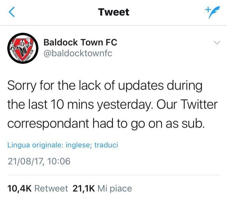 Lo strano caso del Baldock Town F.C.